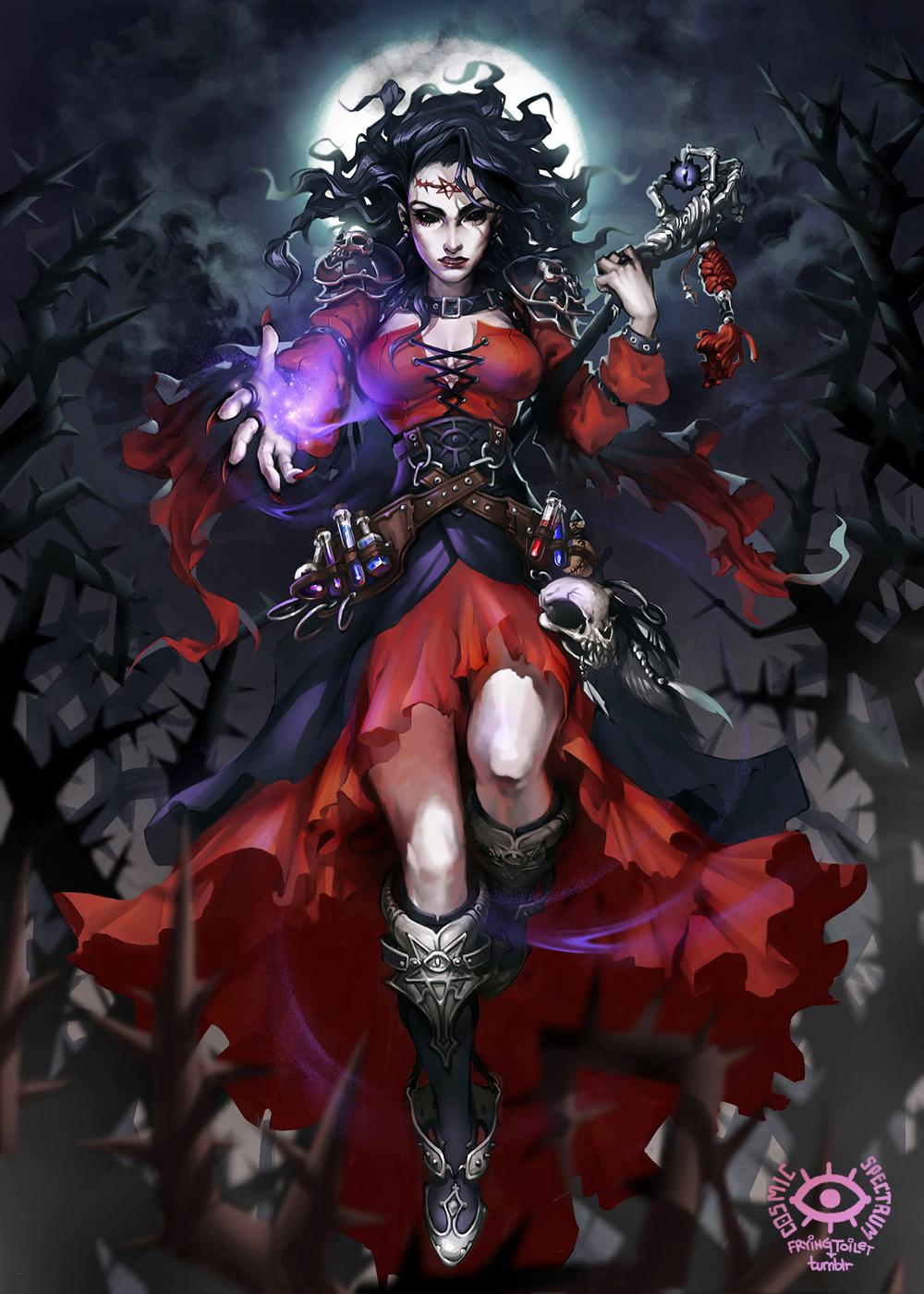 Galeria de Arte: Ficção & Fantasia 1 - Página 4 Titans__ghalos_witch_by_cosmicspectrumm-d7vyaoo