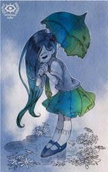 Jinjune postcard by CosmicSpectrumm