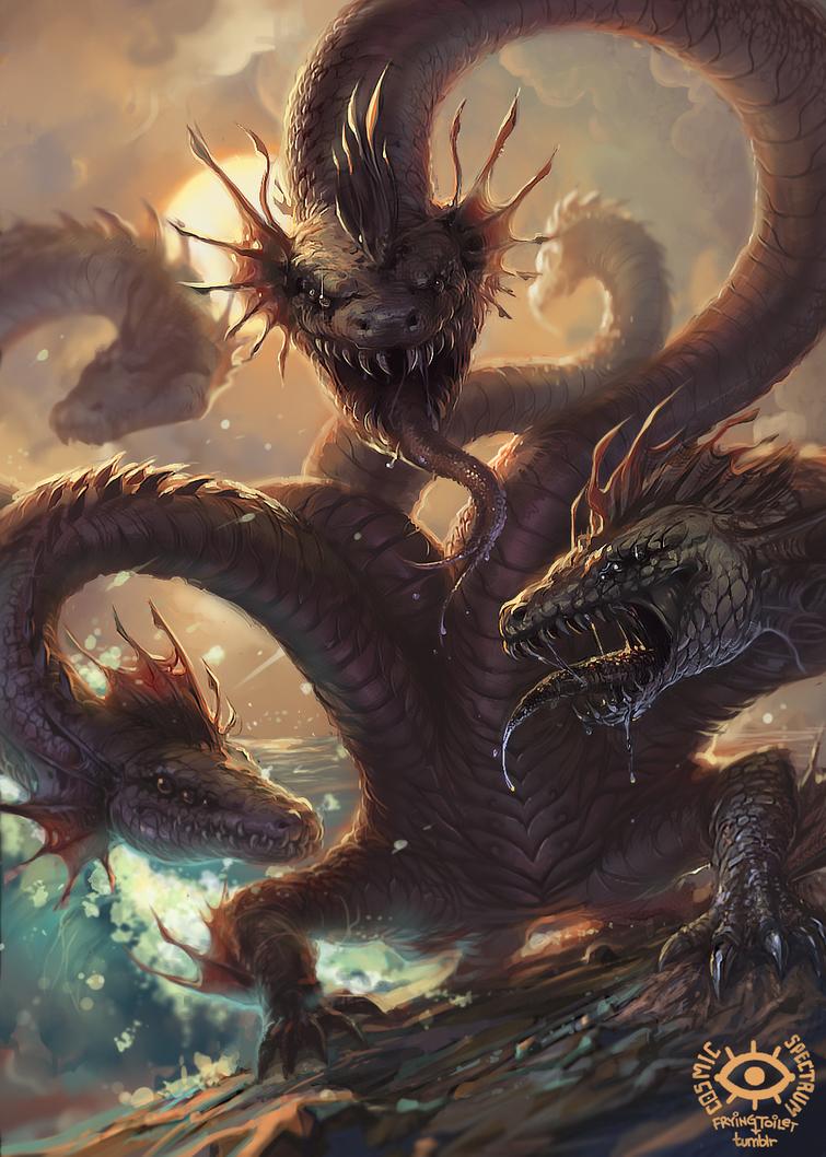 Titans: Hydra by CosmicSpectrumm on DeviantArt Greek Mythology Hydra
