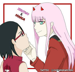 Sarada and Zerotwo