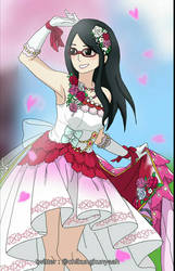 Sarada in wedding dress
