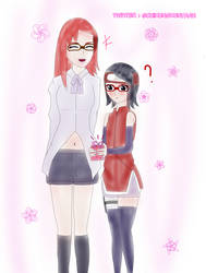 Sarada and Karin