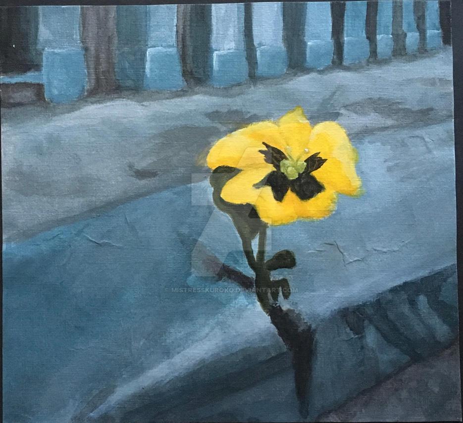 Sidewalk Flower by MistressKuroko