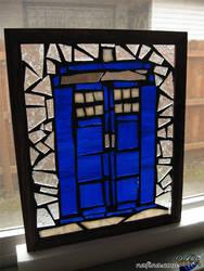 Snowy glass TARDIS by stgulik