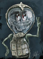 Friendly Alien by RedSaucers