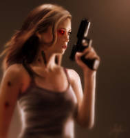 Terminator Summer Glau by RedSaucers