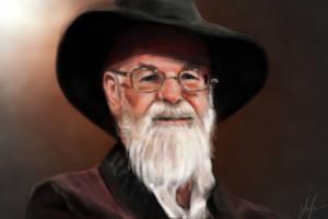 Terry Pratchett by RedSaucers