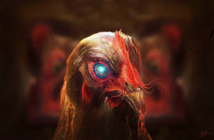Demon Chicken by RedSaucers