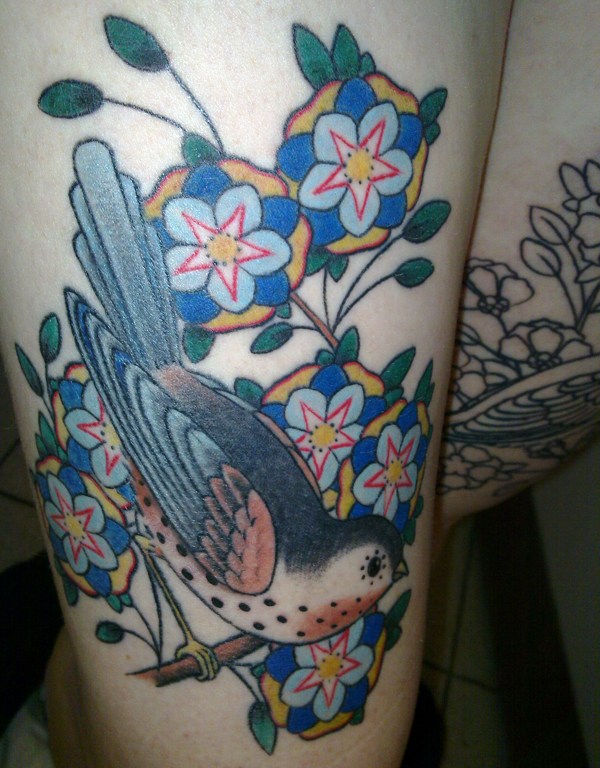 Bird Tattoo by kittyelixir