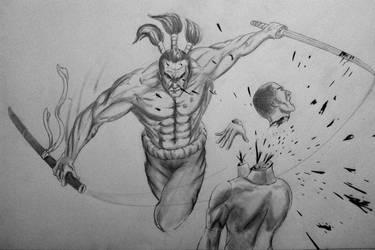 Samurai Sketch by lxlx-lx-xlxl