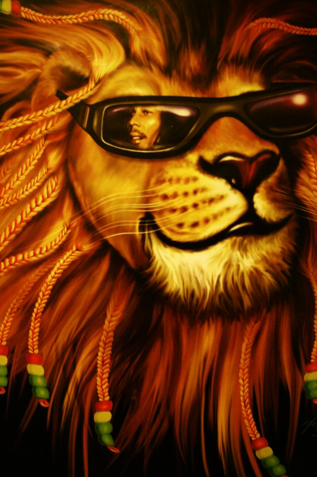 Rasta lion with dreads wallpaper rasta lion by amandaway