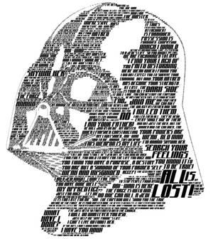 Typographic Darth Vader