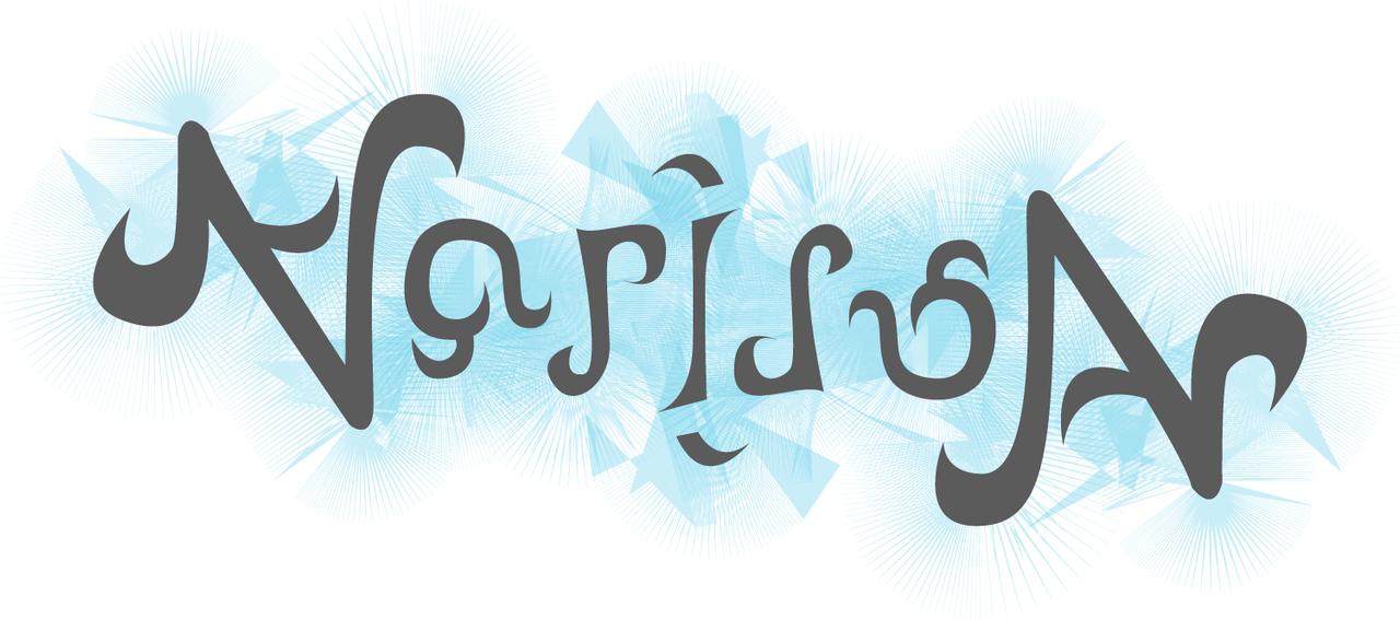 Narissa Ambigram by Bakageta-Koto