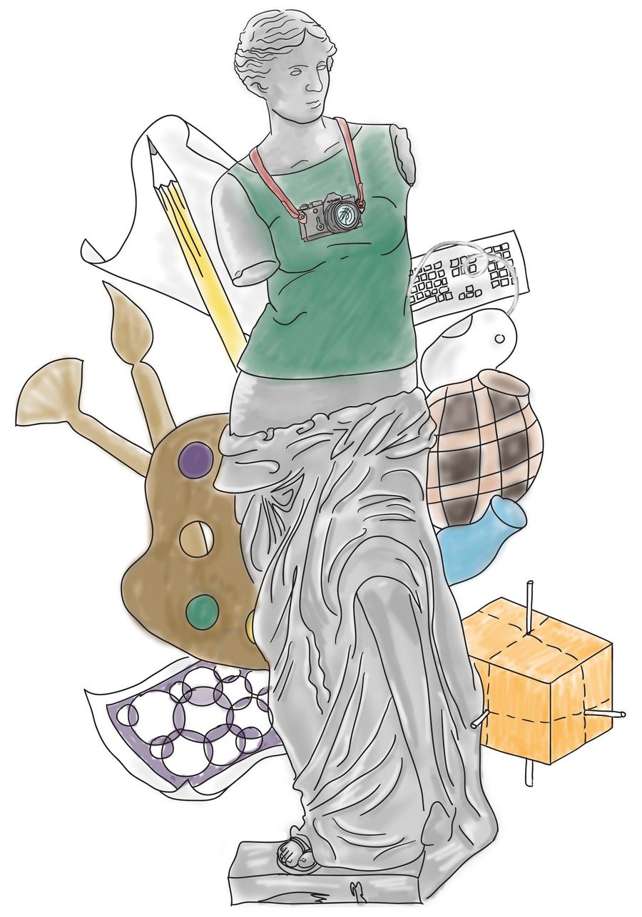 Muse of Visual Art by Bakageta-Koto
