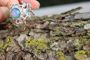 Nebula Ring on SS Victorian Filigree by artistiquejewelry
