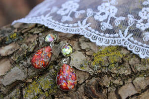 Vintage Opal Earrings perfect for Thanksiving! by artistiquejewelry