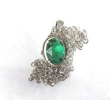Emerald Necklace Sleepy Hollow Inspired by artistiquejewelry