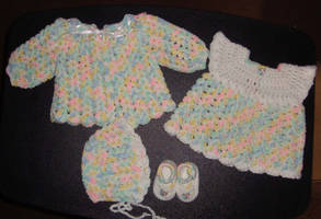Cupcake Sprinkles Layette by Crochet-by-Clarissa