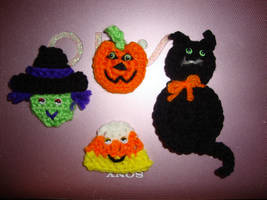 Halloween Pins with eyes by Crochet-by-Clarissa