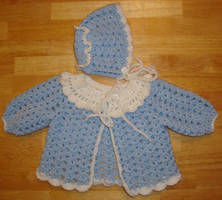 Bluebelle baby sweater by Crochet-by-Clarissa