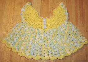 Yellow Pinafore dress back by Crochet-by-Clarissa