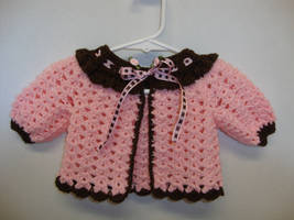 Pink and Chocolate Sweater by Crochet-by-Clarissa