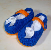 Florida Gator Mary Janes by Crochet-by-Clarissa