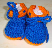 Florida Gators Boys booties by Crochet-by-Clarissa