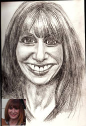 Suzanne caricature by super-enthused