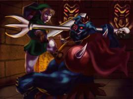 Zelda: Link vs. Ganon by Phobos-Romulus