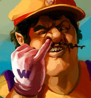 Wario: Portrait of a Gentleman by Phobos-Romulus