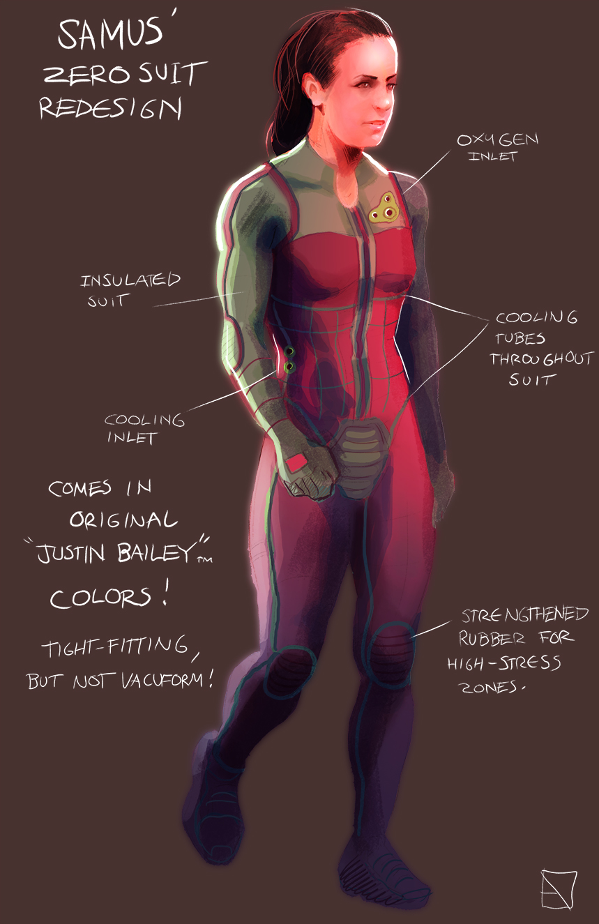 We also enjoyed the increase in Samus' muscle mass and Justin Bailey  colors. Amazing work!