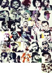 Inktober 2018- Fave Hiphop Artists