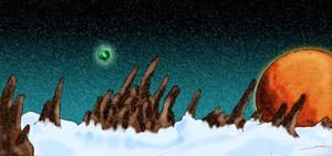 Alien landscape 2 by Phobos-Romulus