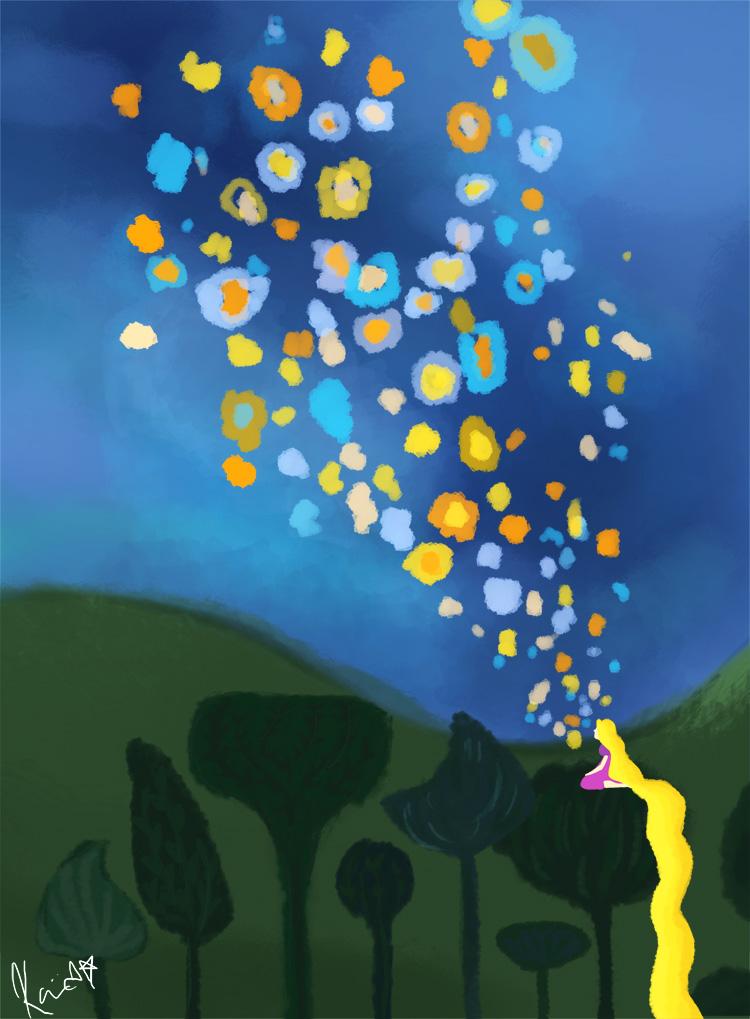 Floating Lights Tangled By Kureemy On Deviantart