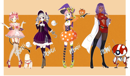 [OPEN] 2/4 HALLOWEEN ADOPTS by Motaii