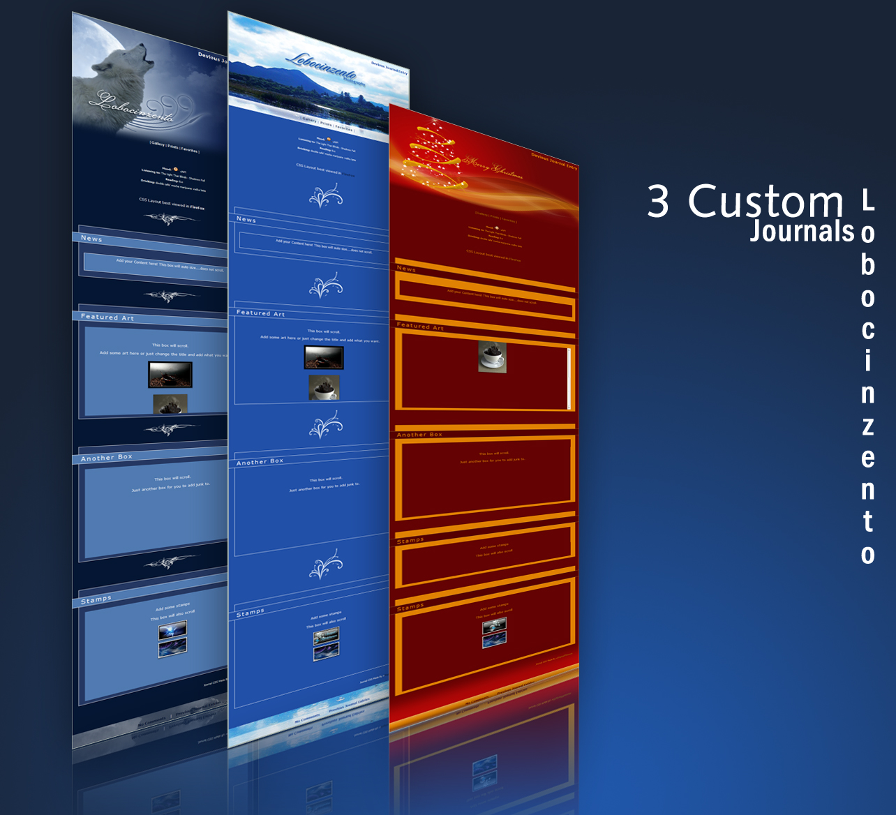Custom Lobocinzento Journals by DigitalPhenom