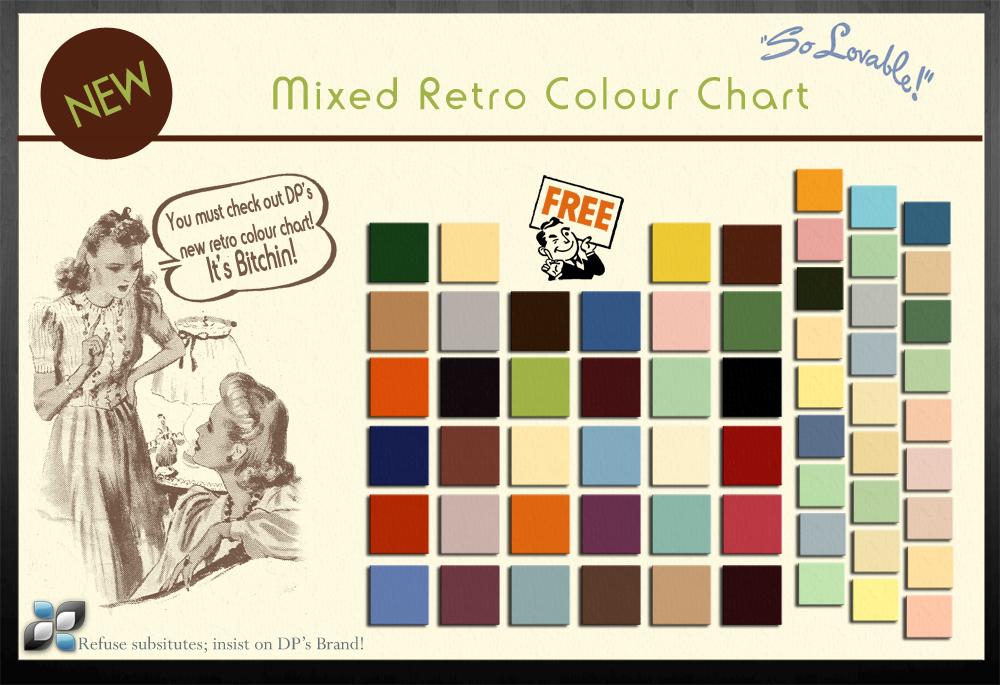 Retro Colour Chart by DigitalPhenom