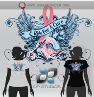 Ride For A Cure Tee Shirt by DigitalPhenom