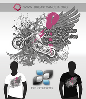 Mens Breast Cancer Awareness T by DigitalPhenom