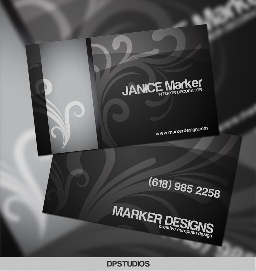 Interior design business card by digitalphenom on deviantart for Interior designers business cards