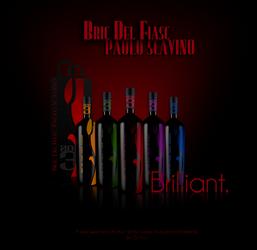 Bric Del Fiasc Wine Label by DigitalPhenom
