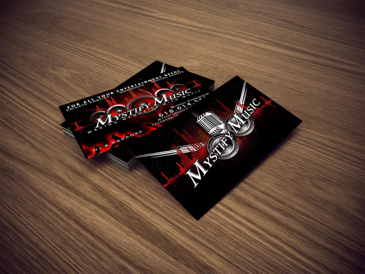 Mystify Music Business Cards by DigitalPhenom on DeviantArt