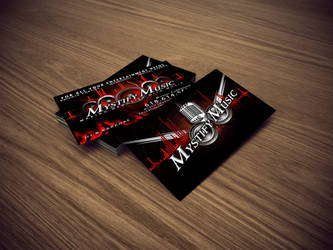 Mystify Music Business Cards by DigitalPhenom