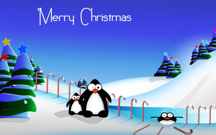 Penguins Christmas Fun WIDE