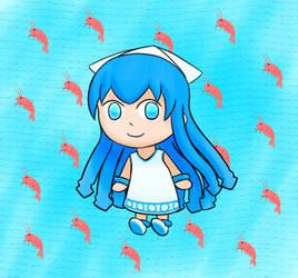 Chibi Ika-chan by sfBluepan