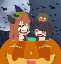 Halloween Succubuses fanart by sfBluepan