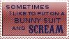 Bunny Suit Scream by KorineForever