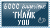 6000 pageviews Thank you by KorineForever