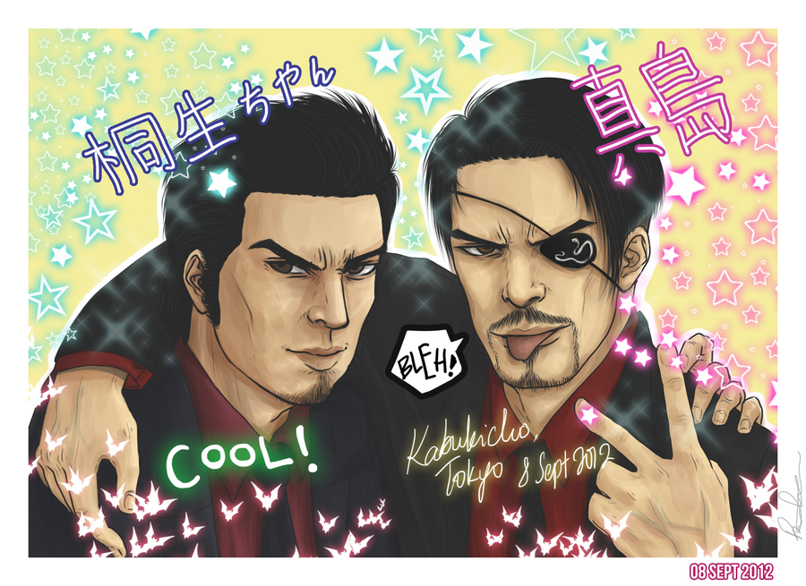 Yakuza - Purikura session with Majima and Kazuma by litesnake